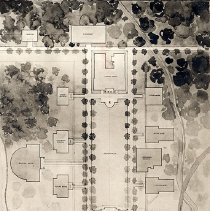 Image of UNRA-P200-3 - Photograph of Bliss & Faville Architects' Campus Plan