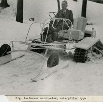 Image of UNRS-P2004-18-304 - Caption on image: Fig. 1 - Tucker motor-sled, caterpillar type.