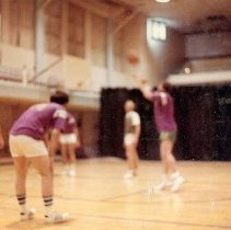 Image of UNRA-P3427-1110 - Unidentified fraternity members playing basketball (1971).