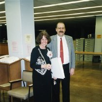 Image of UNRA-P3509-00176 - Michele Basta and Steven Zink in Getchell Library