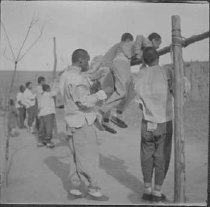 Image of Augustana Book Concern (Rock Island, Ill.) photographs - Boys exercising in Honanfu (China)