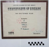 Image of Soccer plaque