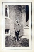 Image of Upsala College (East Orange, N.J.) records - C.G. Erickson in Front of Building