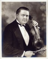 Image of Upsala College (East Orange, N.J.) records - Young Evald Benjamin Lawson with violin