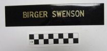 Image of Birger Swenson papers