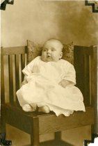 Image of Aledo, Illinois. Photograph collection - Betty Lou Lundeen Baby Portrait, 7/23/1923