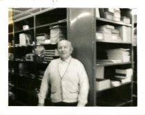 Image of Gustaf Adolf Magnusson photographs (Augustana Book Concern), 1905-1960s - Ernie V. Swanson, foreman of the Shipping Department at the Augustana Book Concern