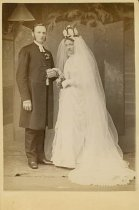 Image of Scandinavian American Portrait collection - Wedding portrait of Reverend C. J. O. Cornell and Mrs.  C. J. O. Cornell