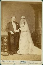 Image of Scandinavian American Portrait collection - Wedding portrait of Doctor Carl Anderson Evald and Annie Carlsson