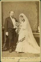 Image of Scandinavian American Portrait collection - Wedding portrait of Doctor Carl Anderson Evald and Emmy Carlsson