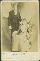Image of Scandinavian American Portrait collection - Wedding portrait of Elias and Mrs. Fant