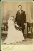 Image of Scandinavian American Portrait collection - Wedding portrait of Reverend August Theodore Fant and Hulda Fant