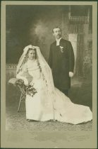Image of Scandinavian American Portrait collection - Wedding portrait of Reverend Carl Edward Frisk and Mrs. Carl Edward Frisk