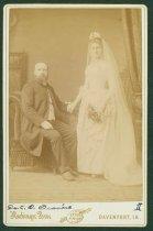Image of Scandinavian American Portrait collection - Wedding portrait of Reverend Carl Otto and Sophia Albertina Granere