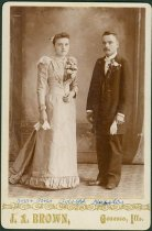 Image of Scandinavian American Portrait collection - Wedding portrait of Mr. and Mrs. Adolph Hagelin