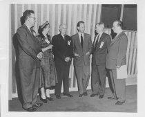 Image of Scandinavian American Portrait collection - Dag Hammarskjöld, Robert  J. Cadigan, Mrs. David D. Baker, Dr. Elson Ruff , and Benjamin  Cohen