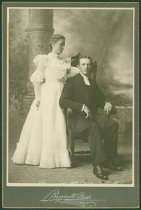 Image of Scandinavian American Portrait collection - Wedding portrait of Reverend Gustaf Emil Hemdahl and Selma Anderson