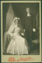 Image of Scandinavian American Portrait collection - Wedding portrait of Reverend Oscar Alfred Henry and Mollie Hokanson
