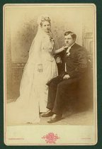 Image of Scandinavian American Portrait collection - Wedding portrait of Reverend Ludvig Holmes and Sofia Johnson