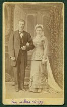 Image of Scandinavian American Portrait collection - Wedding portrait of Mr. and Mrs. Hägg