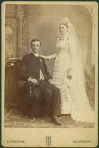 Image of Scandinavian American Portrait collection - Wedding portrait of Reverend and Mrs. August Johnson