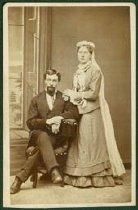 Image of Scandinavian American Portrait collection - Wedding portrait of Mr. and Mrs. Alex Larson