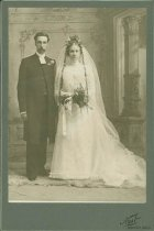 Image of Scandinavian American Portrait collection - Wedding portrait of Reverend and Mrs. Lundqvist