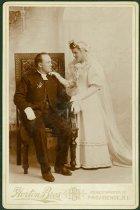 Image of Scandinavian American Portrait collection - Wedding portrait of Reverend Johan Theodore and Anna Ottoson Olander