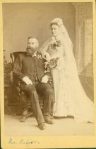 Image of Scandinavian American Portrait collection - Wedding portrait of Reverend and Mrs. Rehners