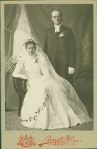 Image of Scandinavian American Portrait collection - Wedding portrait of Reverend and Anna Louise V. Renhard