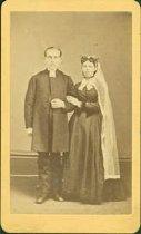 Image of Scandinavian American Portrait collection - Wedding portrait of Reverend Michael and Hulda Sandell
