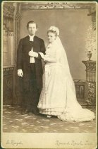 Image of Scandinavian American Portrait collection - Wedding portrait of Reverend August Wilhelm and Jennie Stark