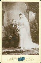 Image of Scandinavian American Portrait collection - Wedding portrait of Reverend Edward and Nathalie Stark
