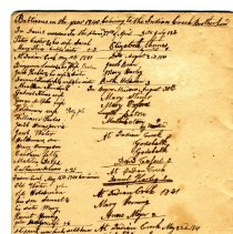 Image of Abraham Harley Cassel list of Brethren baptisms, 1840-1841