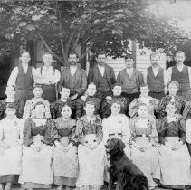 Image of A.H. Nyce Clothing Factory employees, Morwood, PA, ca.1895