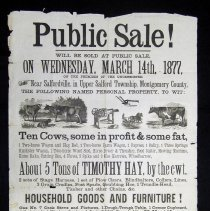 Image of Henry Kolb auction broadside, 1877