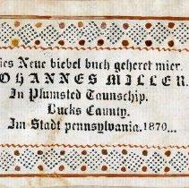 Image of John & Elizabeth Detweiler Miller family Bible, 1870