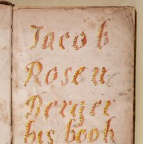 Image of Jacob Rosenberger bookplate