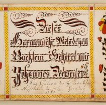 Image of John Detweiler manuscript tunebook, 1830