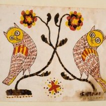Image of Drawing of two owls, early 19th cen.