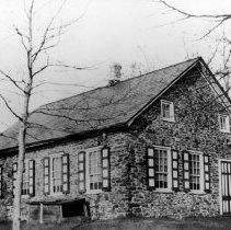 Image of Flatland Mennonite Meetinghouse near Quakertown, 1930s