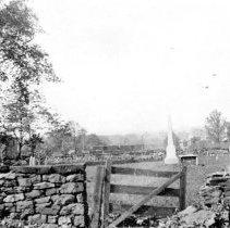 Image of Sprogel Cemetery in its original location, Pottstown, 1905