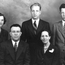 Image of Arthur and Ella Habegger Rosenberger family, ca. 1945