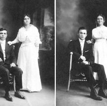 Image of Wedding portraits of sisters Katie and Elsie Clemens (1915 and 1916)