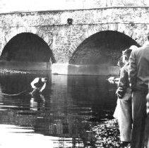 Image of Brethren baptism in the Branch Creek, ca. 1950
