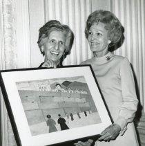 Image of Josephine Weiner (left) and Pat Nixon, 1970