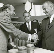 Image of Paul Zuckerman and Lyndon B. Johnson
