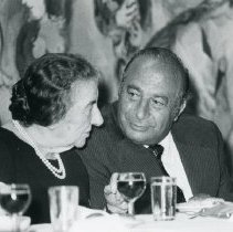 Image of Golda Meir and Paul Zuckerman