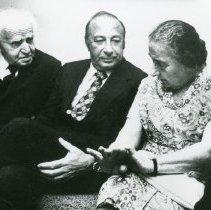 Image of David Ben-Gurion, Paul Zuckerman, Golda Meir