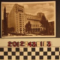 Image of 2012.43.1.3 - A real photo postcard of the Bible Institute of Los Angeles